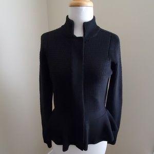 Ann Taylor Peplum zipped sweater jacket